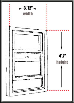 Velux window size chart for Replacement window sizes